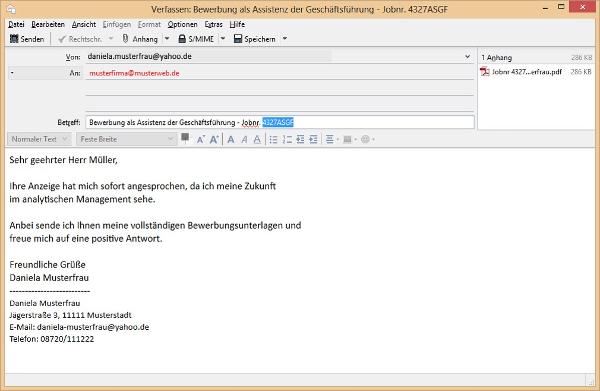 E Mail Bewerbung Als Werkstudent Bewerbungsforum 5